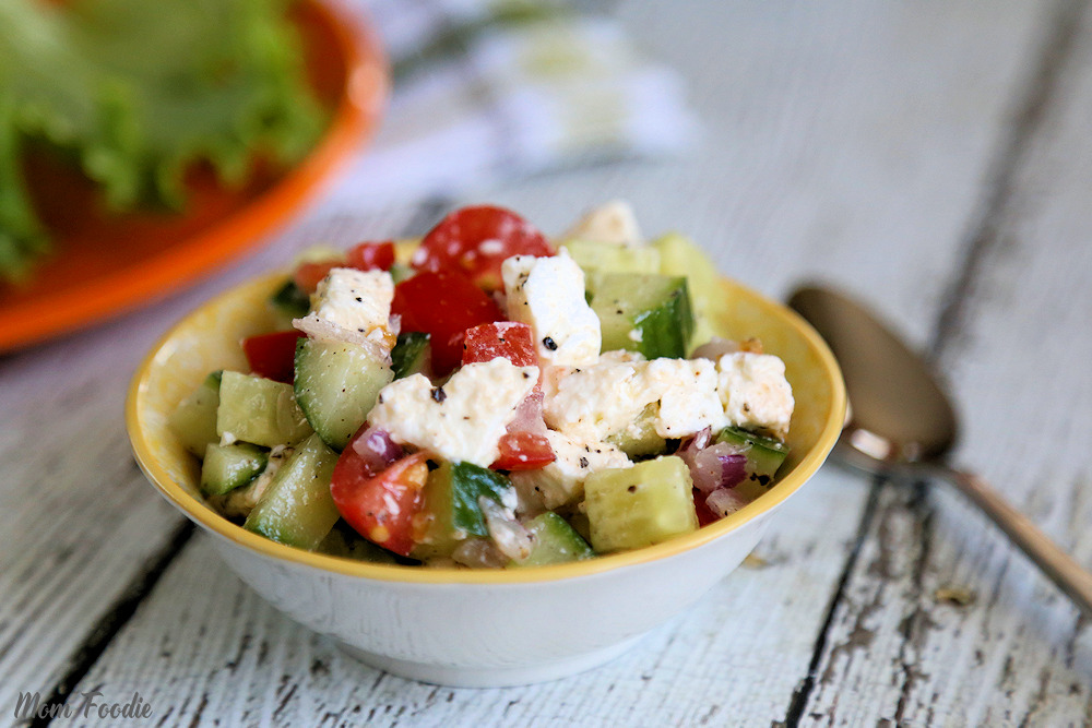 Easy Cucumber Feta Salad Recipe