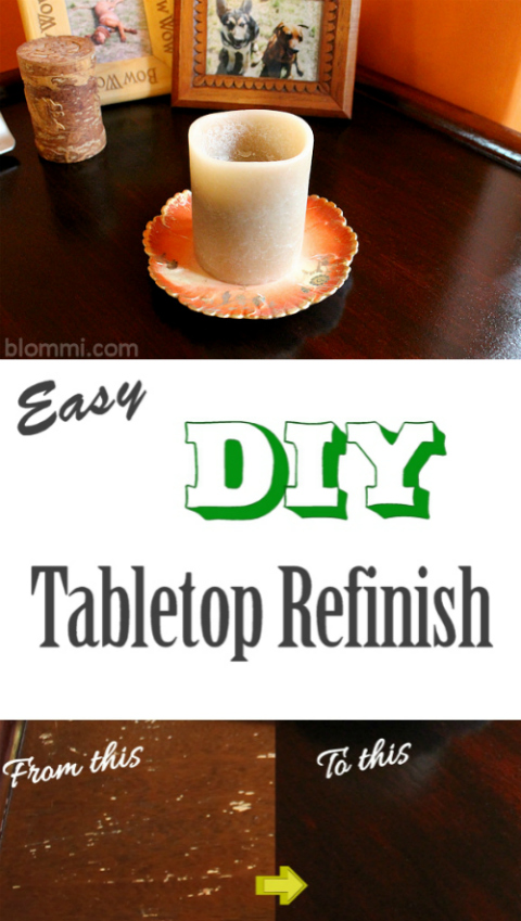 Easy DIY Table Top Refinish