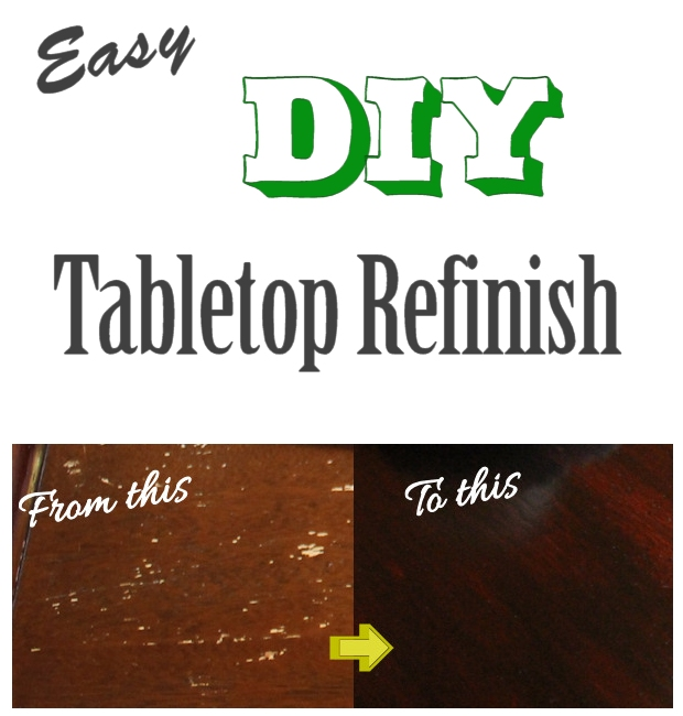 Easy DIY Tabletop Refinish