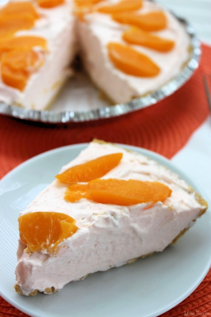 easy peach pie recipe creamy yogurt peach pie dessert