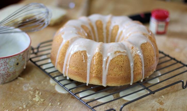 Eggnog Bundt Cake Recipe - Icing the Cake