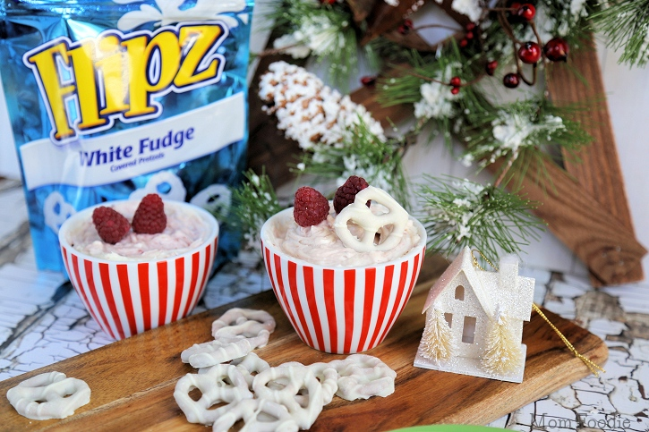 Flipz and Raspberry Cheesecake Dip