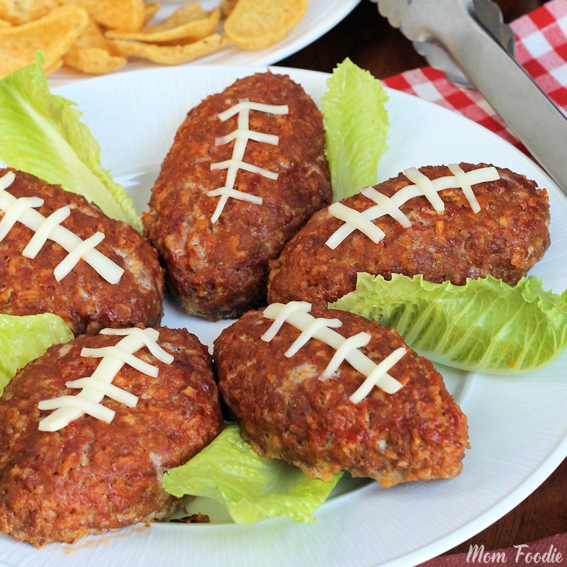 Football Mini Meatloaf Recipe Easy Football Party Food Mom Foodie