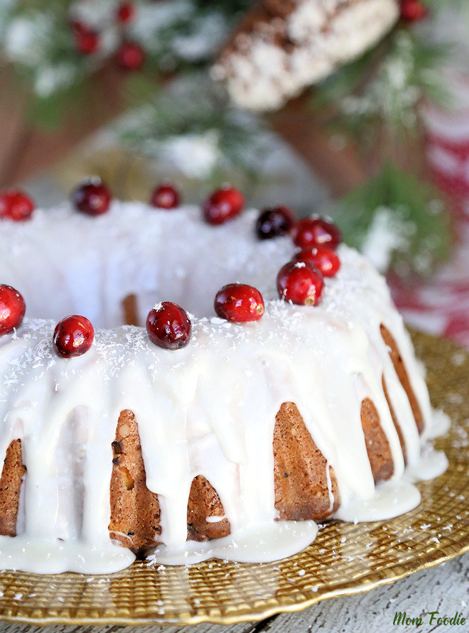 Fresh Cranberry Cake Recipe - Cranberry Sour Cream Bundt Cake