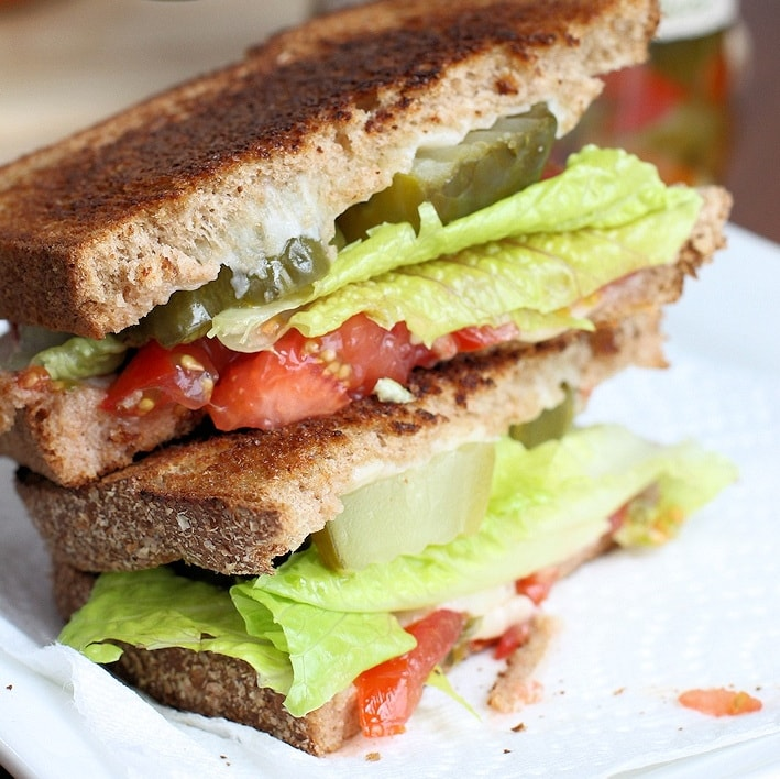 Garden Salad Grilled Cheese