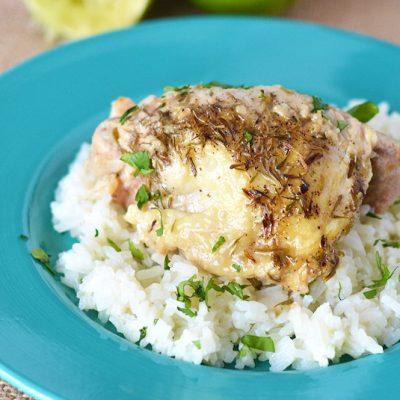 Garlic Lime Chicken - Crock Pot Chicken Thighs Recipe