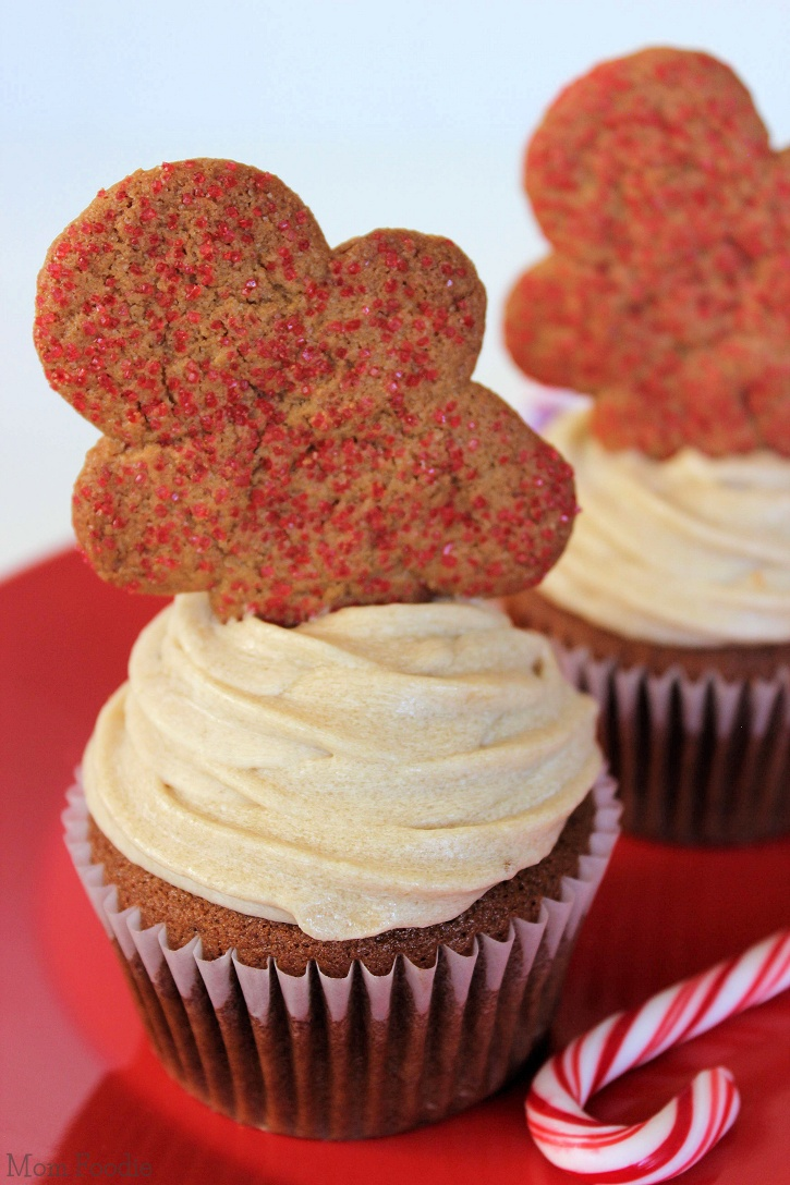Gingerbread Cupcakes with Brown Sugar Cream Cheese Frosting Recipe ...