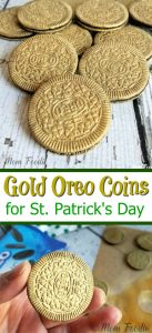 Gold Oreos for St. Patrick's day