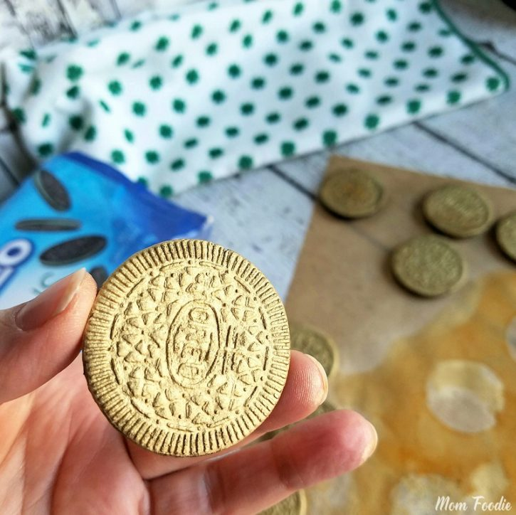 Gold Sprayed Oreos - edible gold covered Oreos