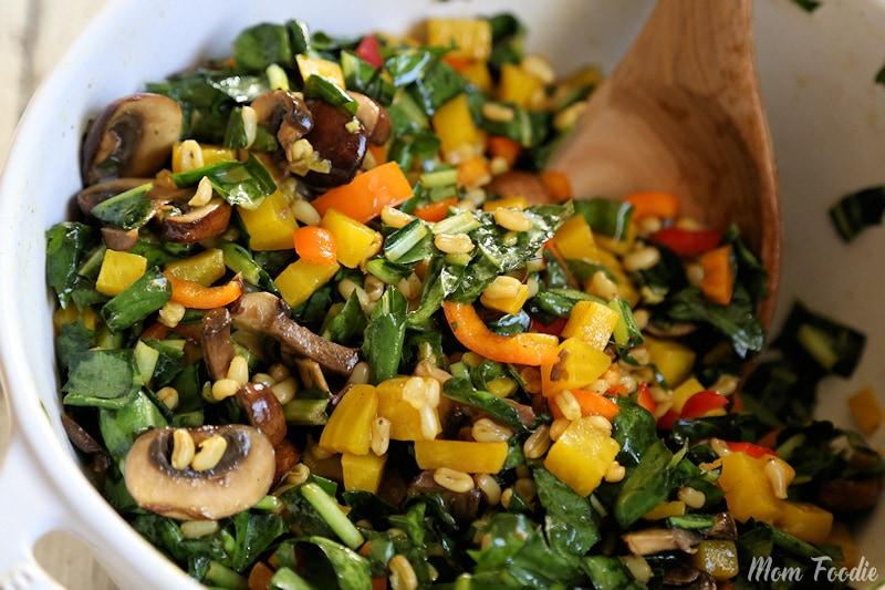 Golden Beets, Kamut and Dandelion Salad