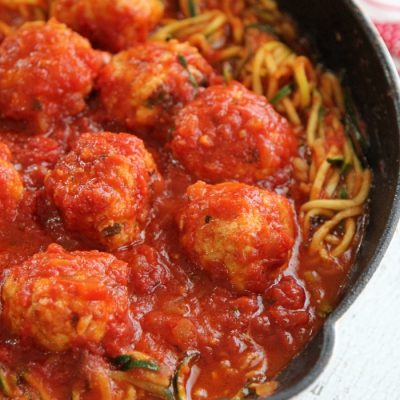 Grain-free meatballs with zucchini noodles