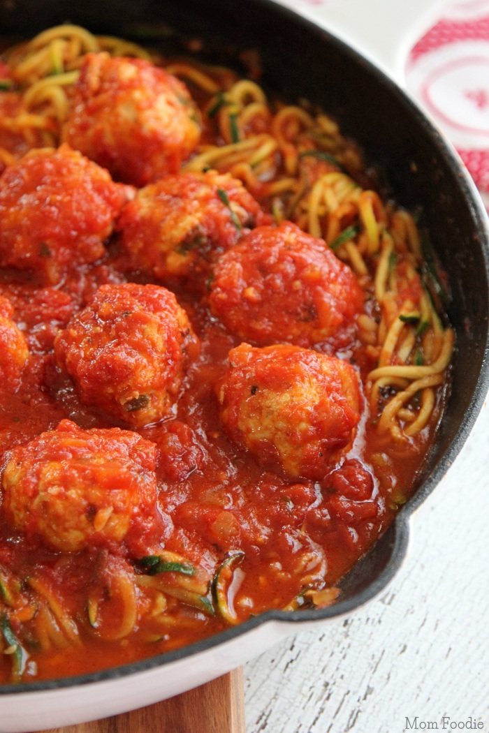 Healthy Spaghetti and meatballs gluten-free grain-free low-carb