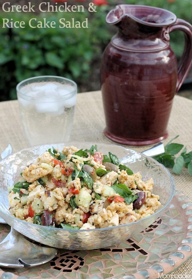 Greek Chicken and Rice Cake Salad