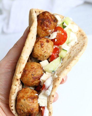 Greek Meatball Pita