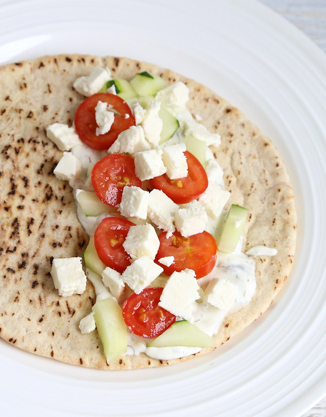 Greek Pita toppings