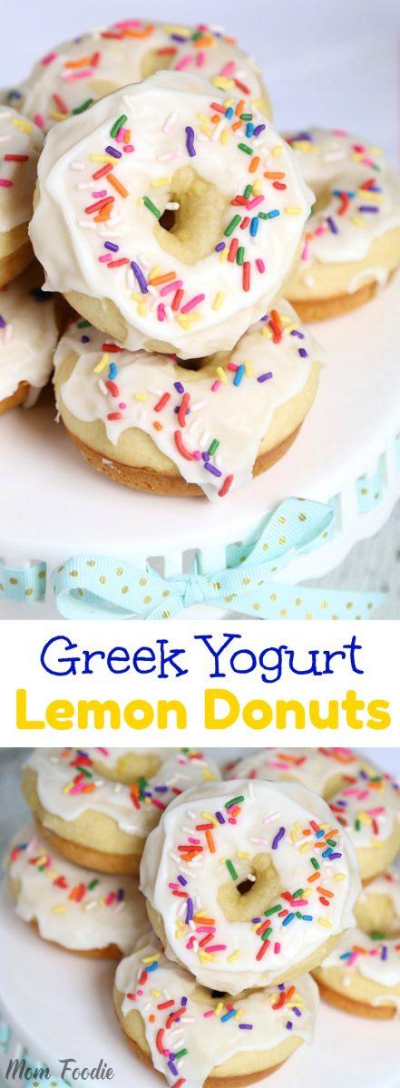 Greek Yogurt Lemon Donuts with Lemon Icing - easy recipe