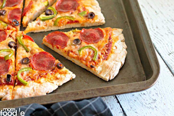 Slice of pizza.
