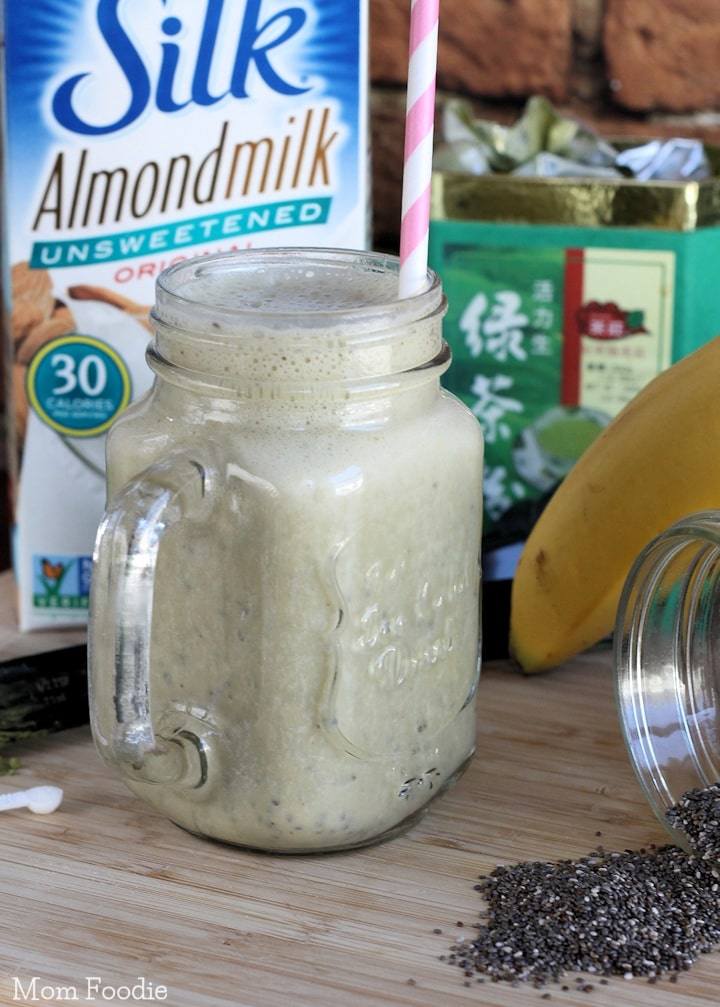 Green Tea Chia Smoothie Recipe Vegan