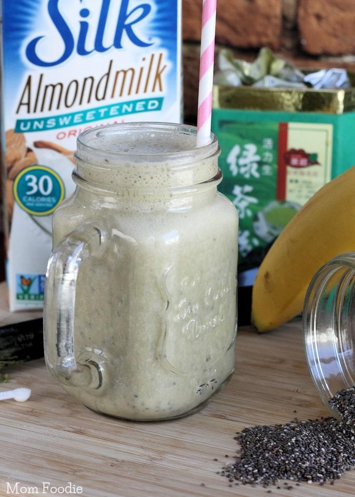 Green Tea Chia Smoothie Recipe Vegan