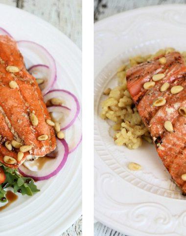 Grilled Balsamic Salmon Salad