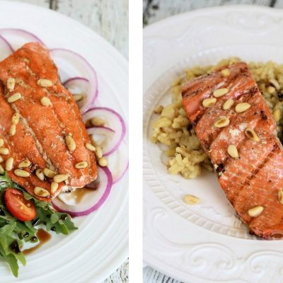 Balsamic Grilled Wild Salmon – Two Ways