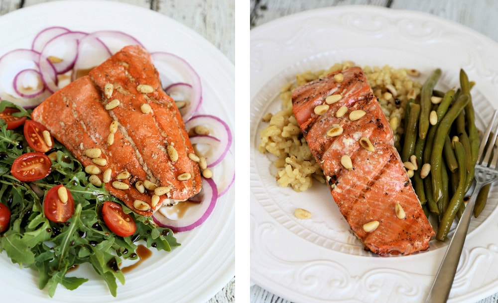 Grilled Balsamic Salmon Salad