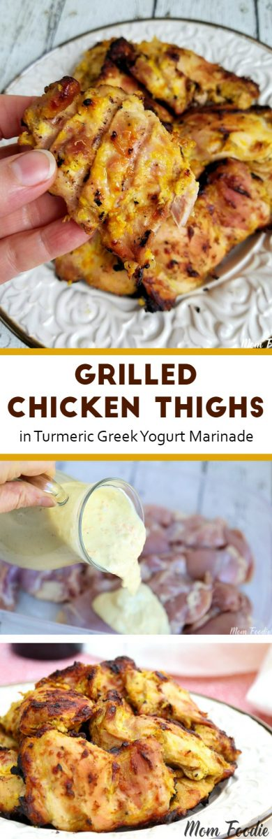 Grilled Chicken Thighs in Greek Yogurt Marinade