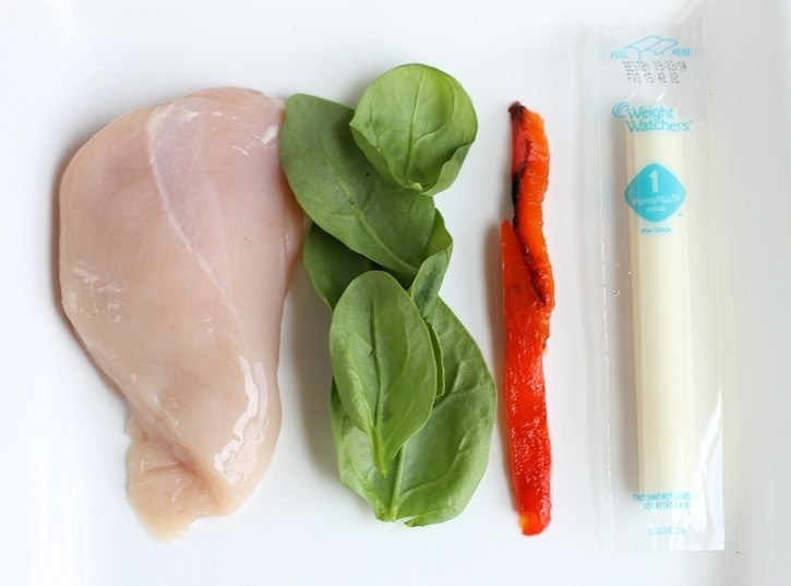 Grilled Stuffed Chicken Italiano - ingredients