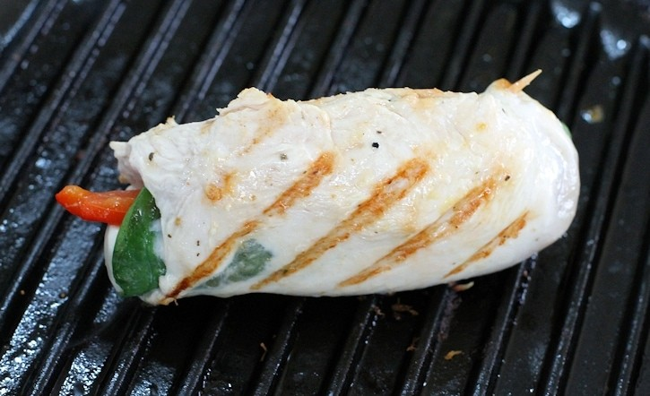 Grilling the Stuffed Chicken Italiano