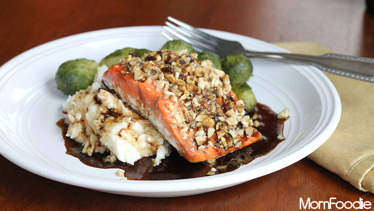 Guinness Salmon with Walnut Crust