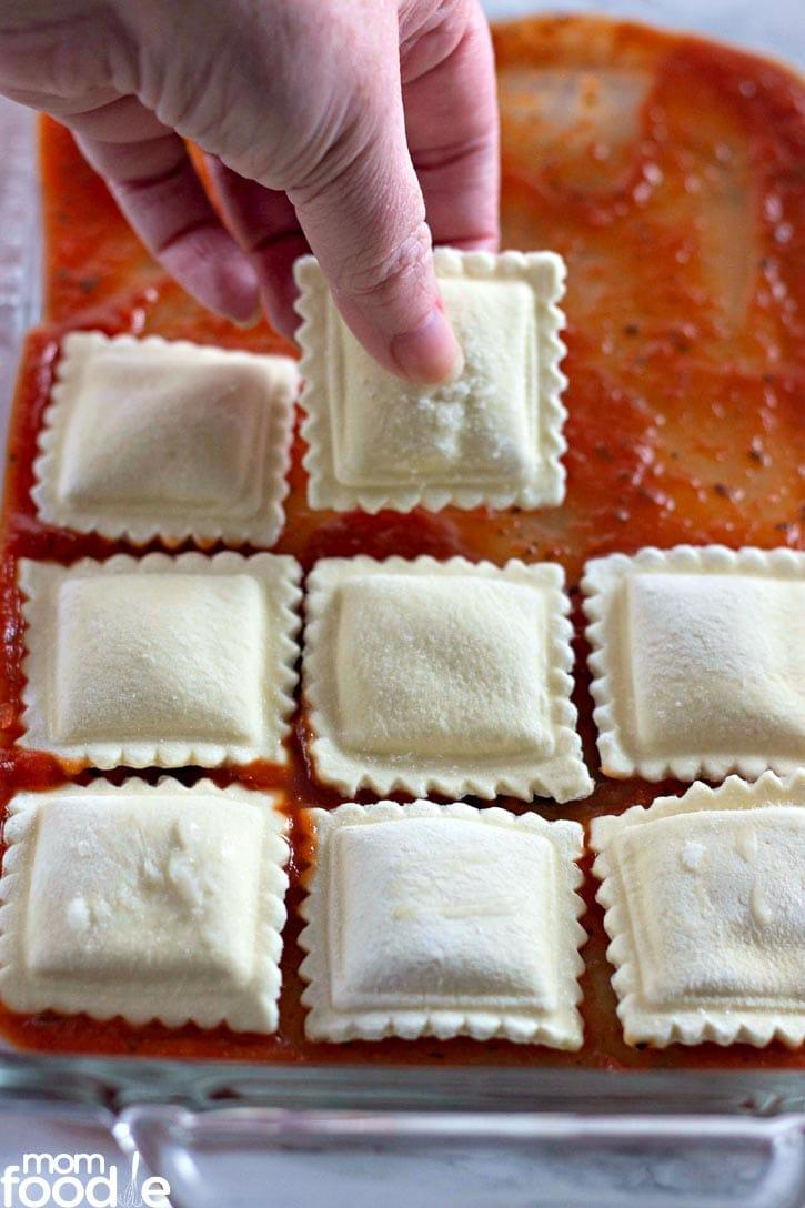 layer of ravioli
