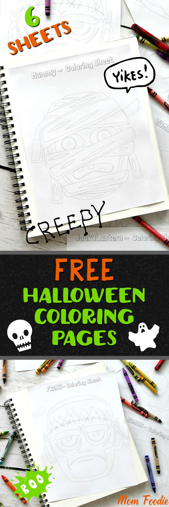 Halloween Coloring Pages: 6 Free printable Halloween Character sheets