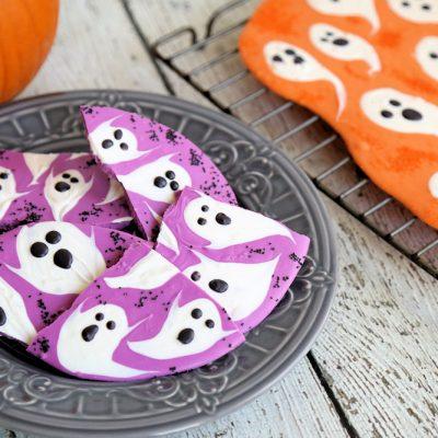 Halloween Ghost Candy Bark