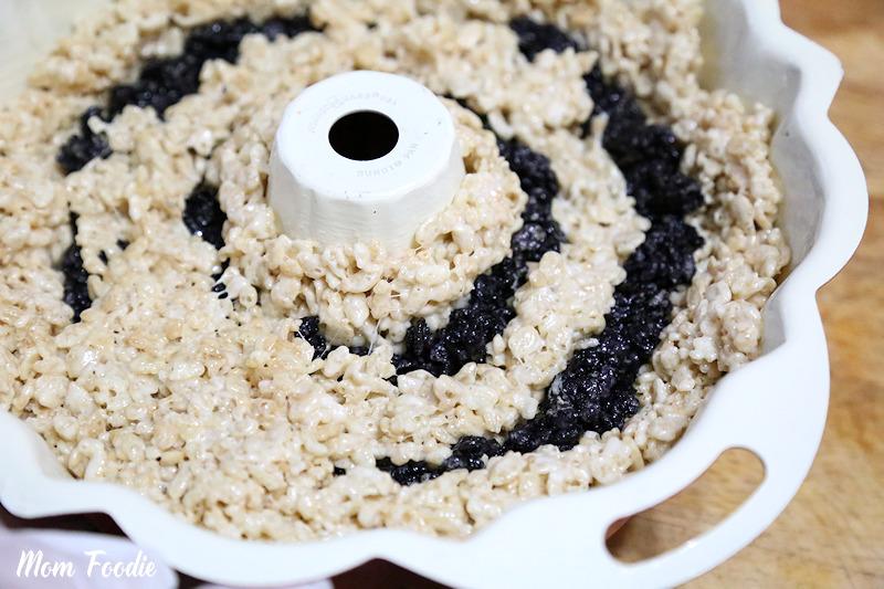Halloween Ghost Rice Krispies Bundt Cake