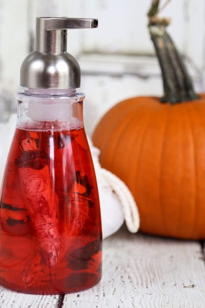 "Halloween Bloody ""Hand"" Soap: Gory Severed Fingers Foaming Hand Soap"