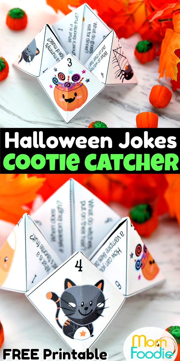 Halloween Jokes Cootie Catcher Pinterest