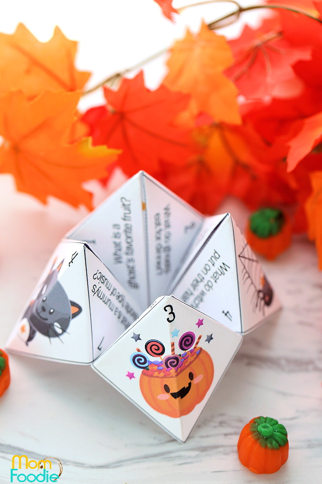 Halloween Jokes Cootie Catcher