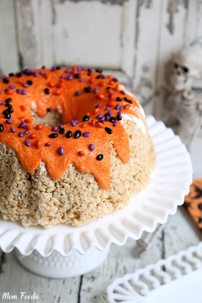 Halloween Rice Krispie Bundt Cake