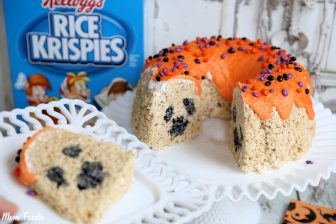Halloween Rice Krispies Bundt Cake