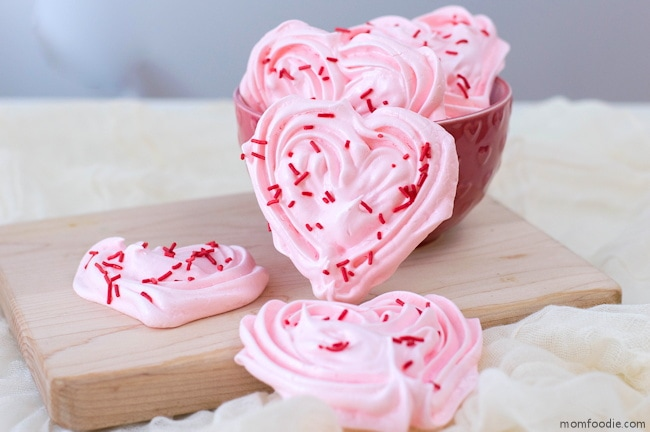 Heart Meringues for Valentine's day