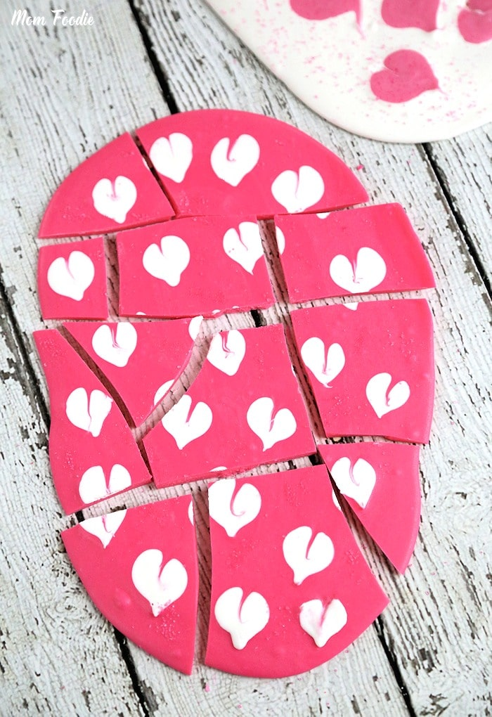 Heart Valentine Chocolate Bark
