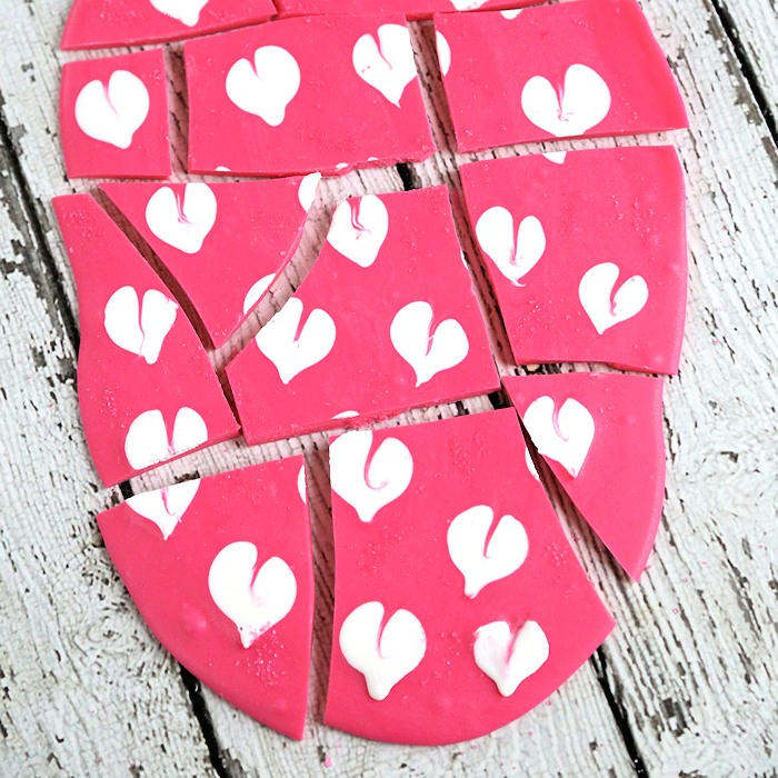 "Hearts Valentine""s Chocolate Bark"