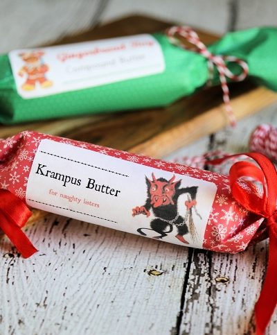 Holiday Compound Butters with Free Printable Labels