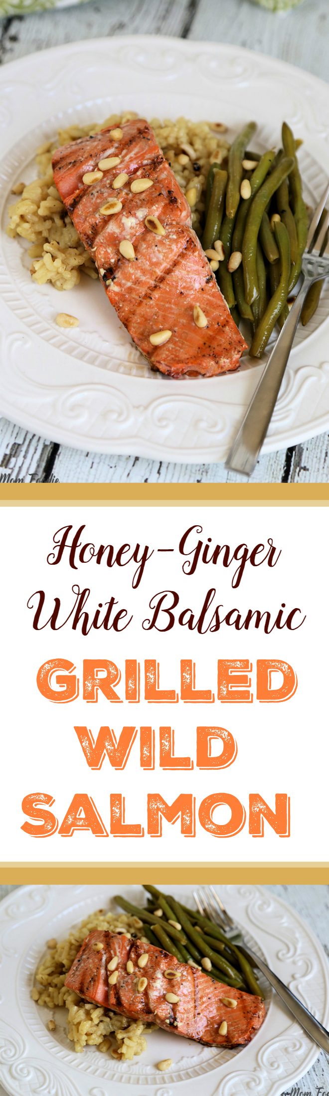 Honey Ginger White Balsamic Grilled Wild Salmon