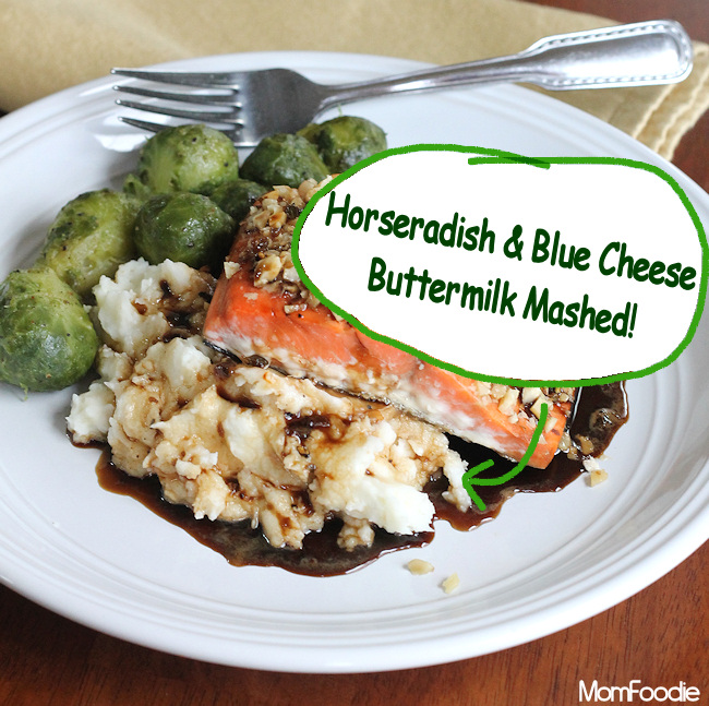 Horseradish-Blue Cheese Buttermilk Mashed Potatoes Recipe - Mom Foodie