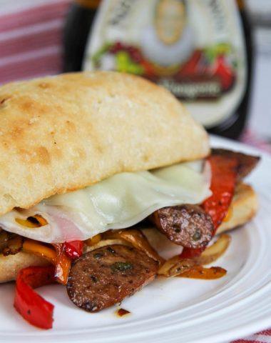 Balsamic Sausage Pepper Sandwich