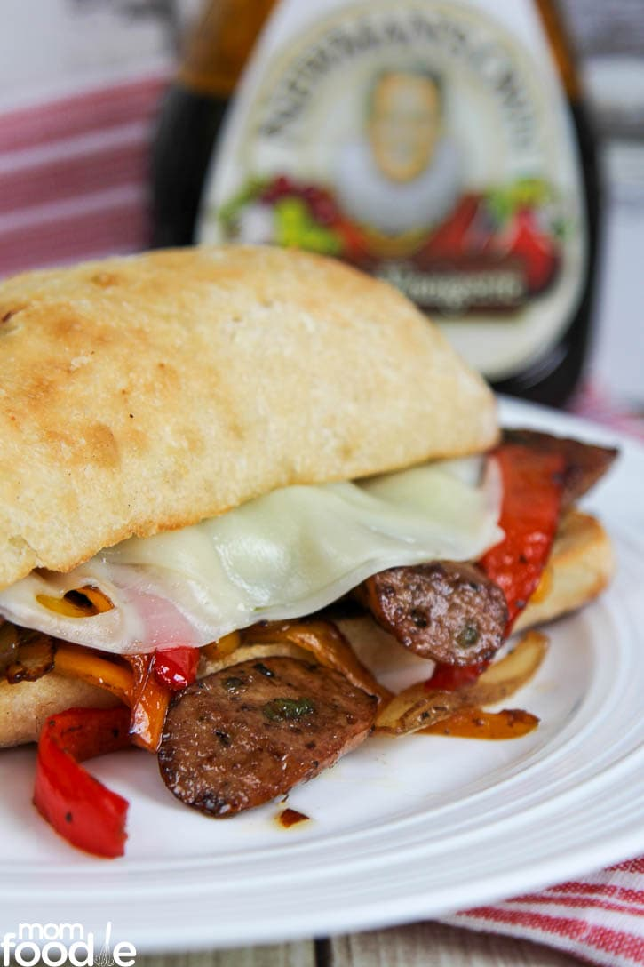 Balsamic Sausage Pepper Sandwich