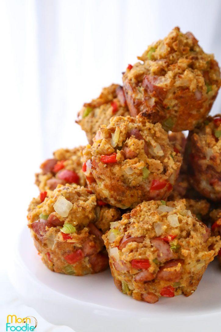 Smoked Sausage Stuffing Muffins