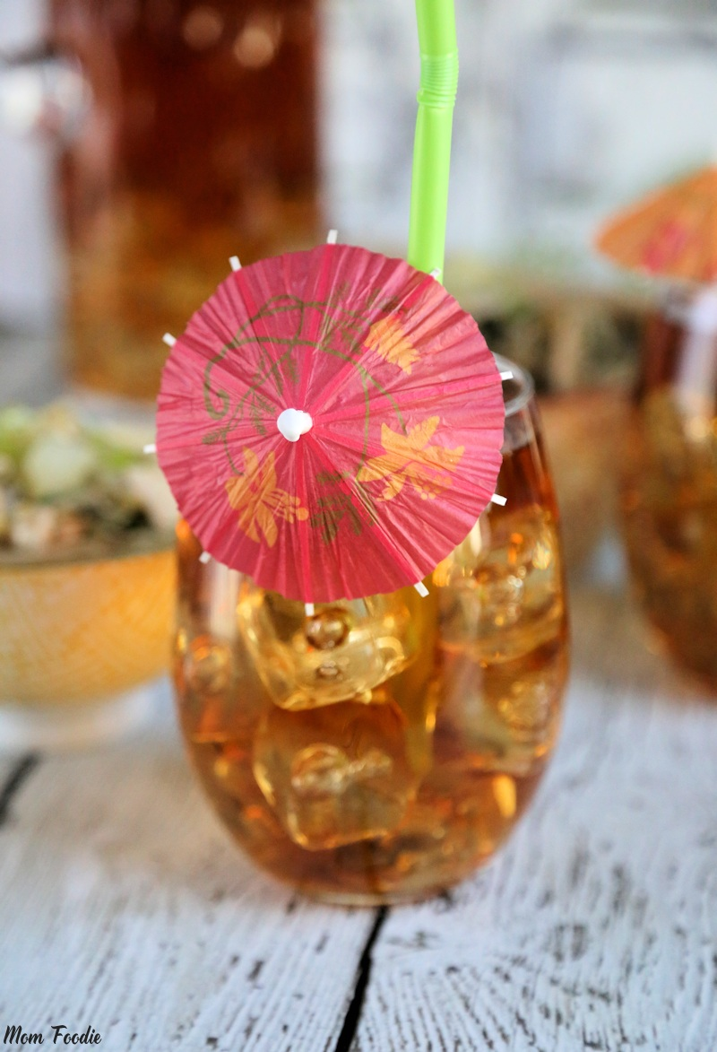 Iced Tea with Paper Umbrella