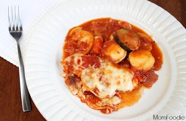 Italian Chicken & Veggie Ravioli Bake 2